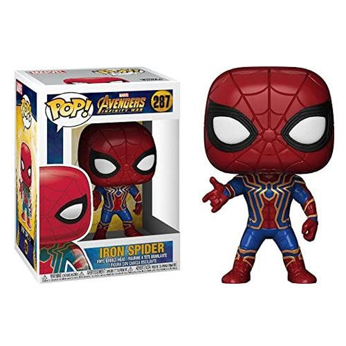 avengers iron spiderman figurine