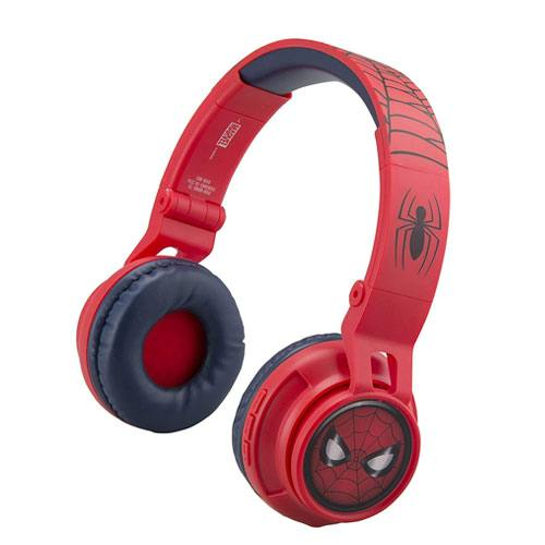 bluetooth spiderman headphones present