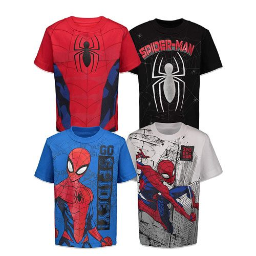 boys spiderman t-shirts set
