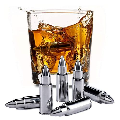 bullet shape whiskey stones gift