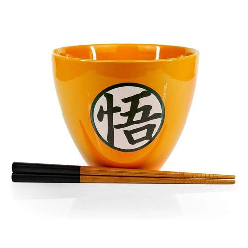 ceramic noodle bowl and chopsticks