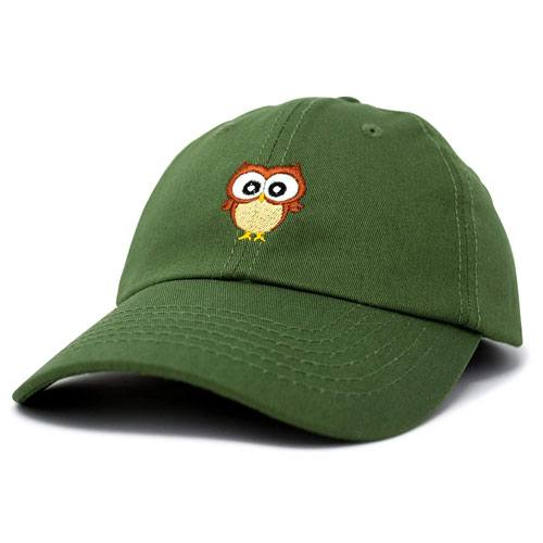 cute embroidered owl cap