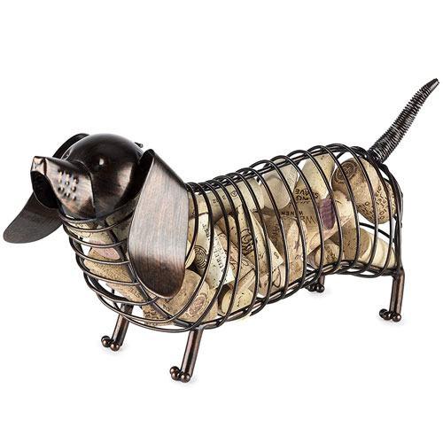 dachshund cork holder