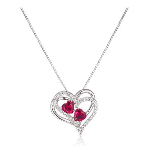 double heart pendant necklace gift