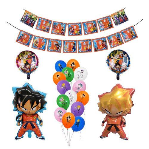 DBZ party decorations set