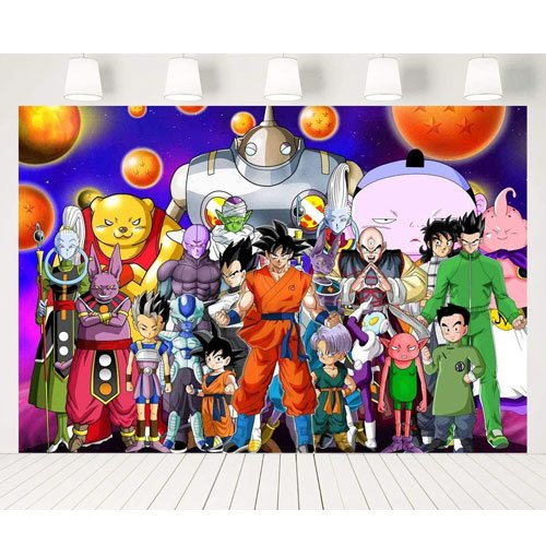 DBZ photography backdrop party supplies
