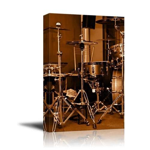 drum kit canvas wall art