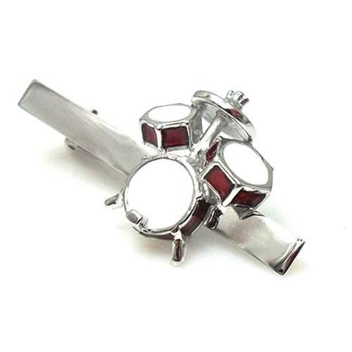 drum set tie clip