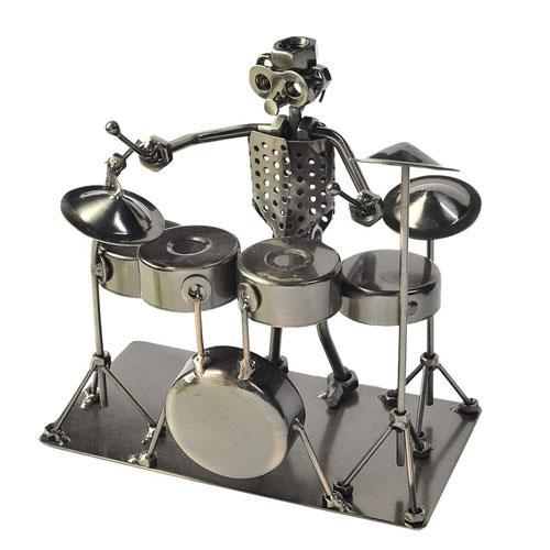 drummer metal figurine gift idea