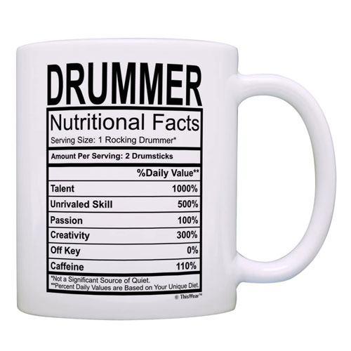 drummer nutritional facts coffee mug