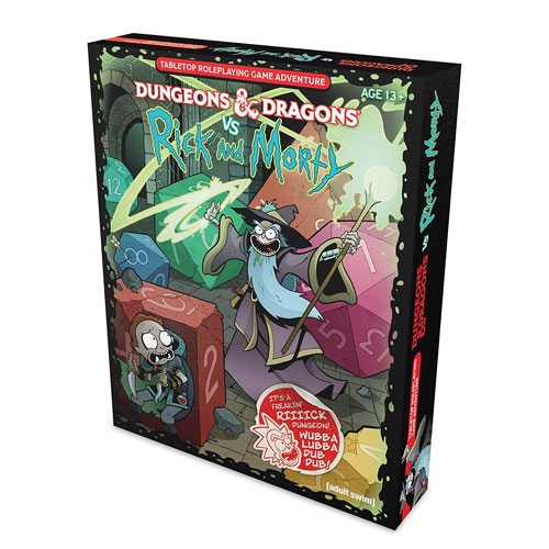 dungeons and dragons vs rick and morty set