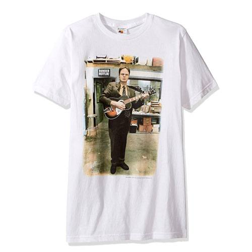 dwight schrute guitar t-shirt