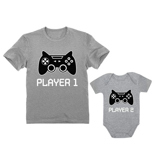 father son matching gaming outfits