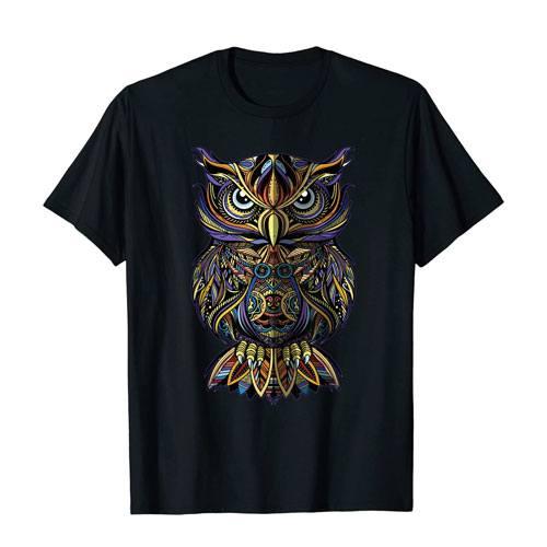 geometric owl t-shirt apparel