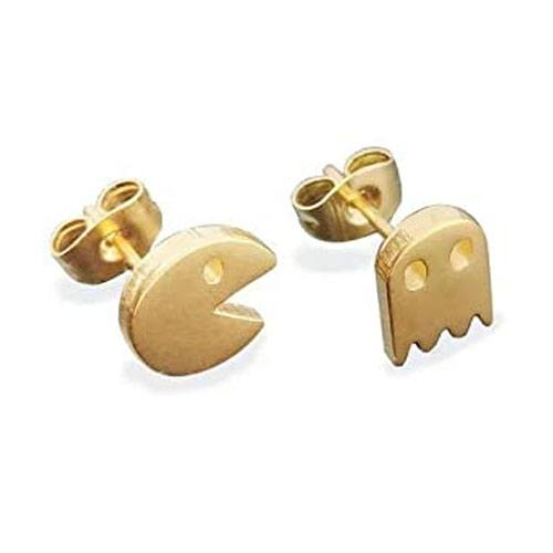 pac-man stud earrings