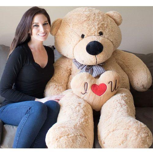 giant teddy bear present