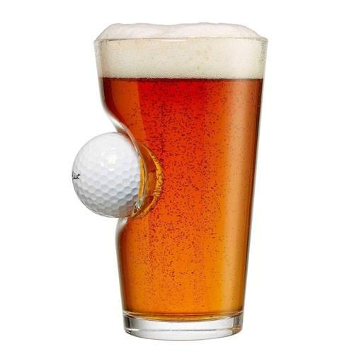 golf ball pint glass