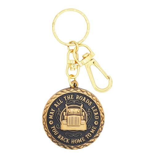 good luck trucker keychain