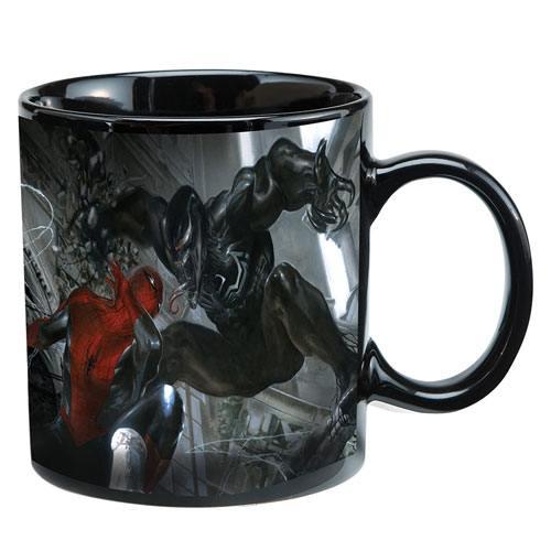 heat reactive spiderman vs venom mug