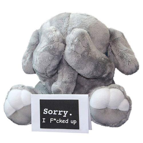 im sorry gift elephant plush