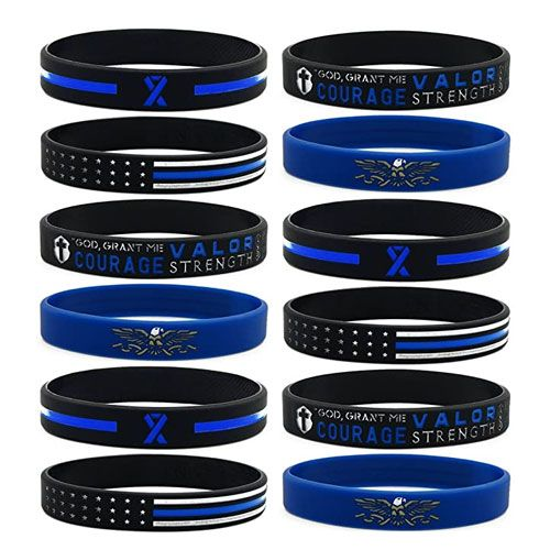 law enforcement silicone bracelets