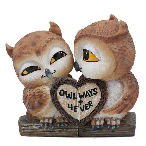 love owls statue home decor