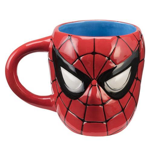 spiderman sculpted coffee mug
