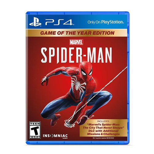 spiderman ps4 game of the year