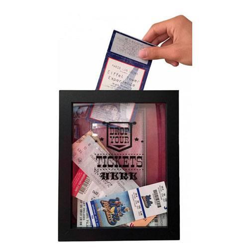 movie ticket shadowbox