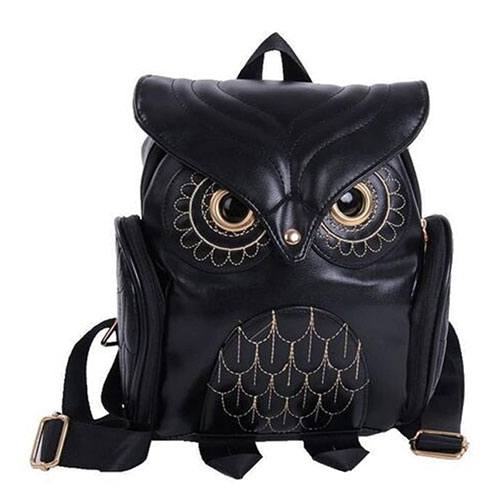 owl leather backpack accessory