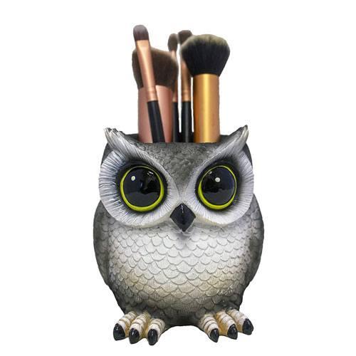 owl makeup brush holder