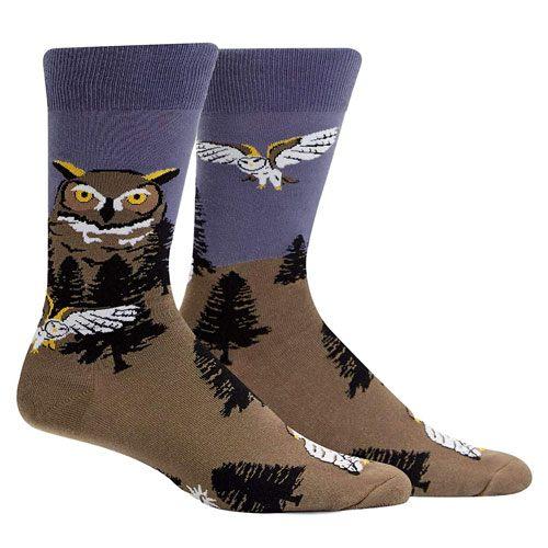 owl mountain socks gift