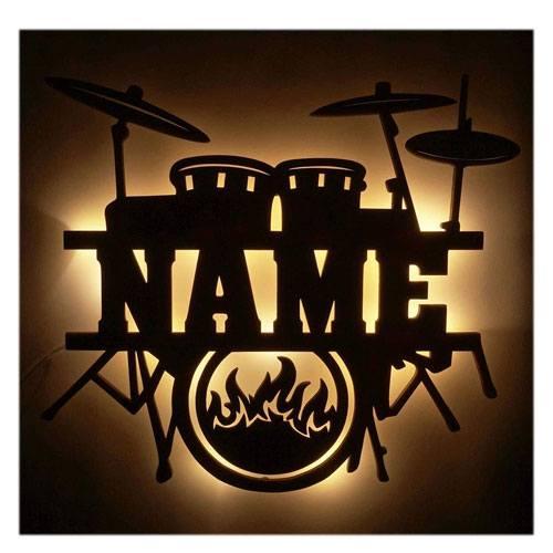 personalized drum night light