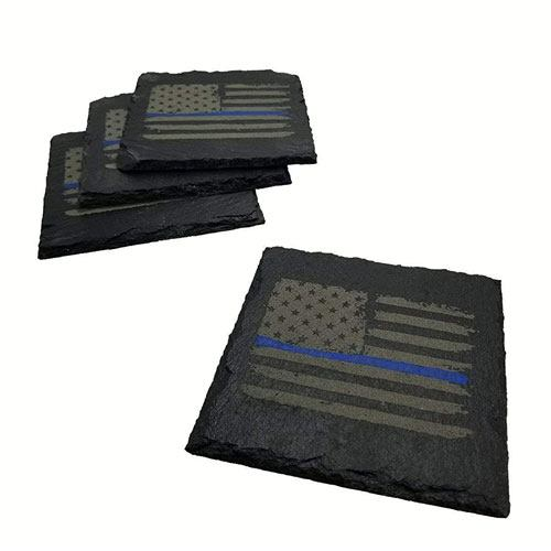 police american flag coaster set