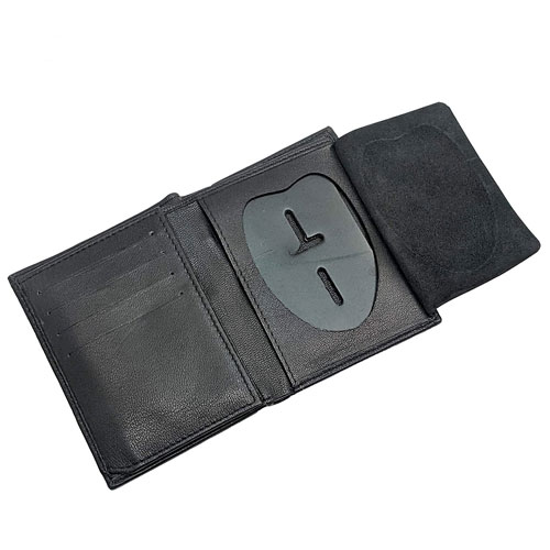 police badge bifold wallet