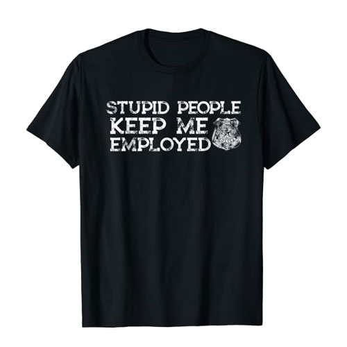 funny police officer t-shirt merchandise