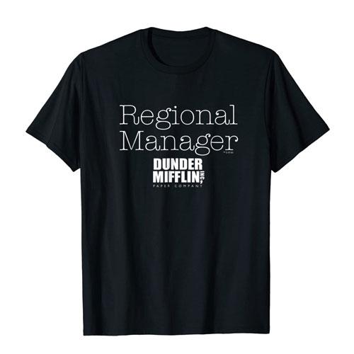 regional manager t-shirt dunder mifflin