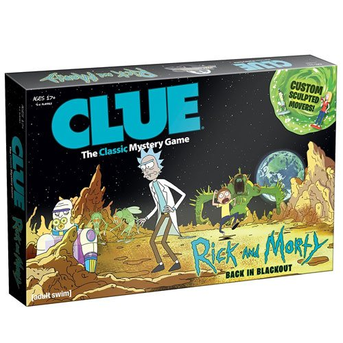 rick and morty clue board game