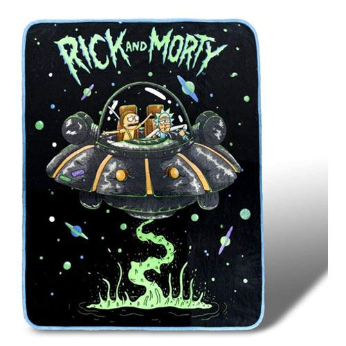 rick and morty throw blanket