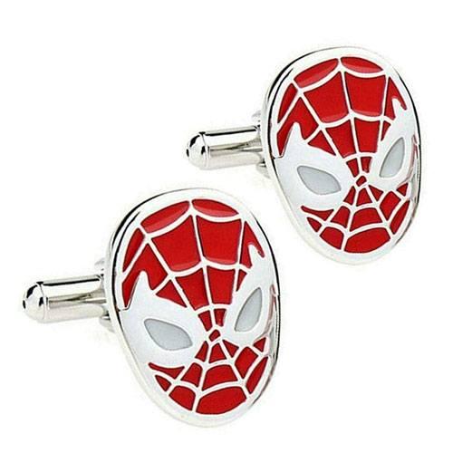 spiderman mask cufflinks