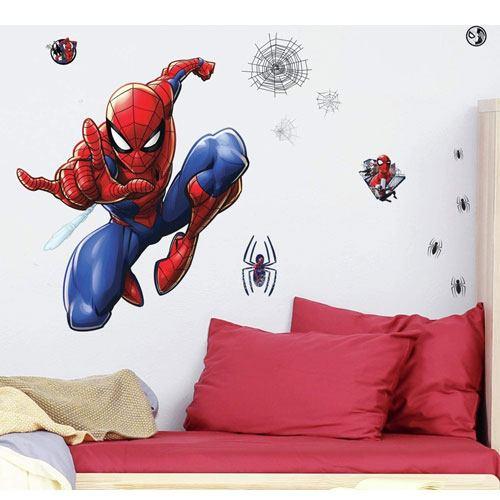 spiderman wall decals set