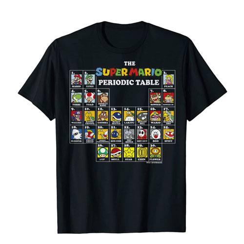 super mario periodic table t-shirt