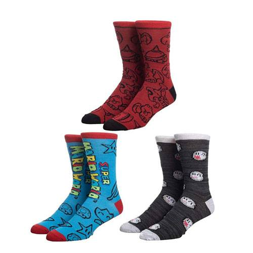 super mario socks box set
