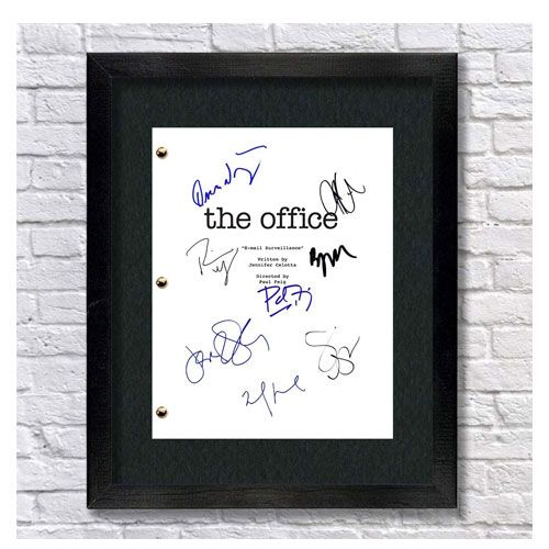 the office autographed script gift