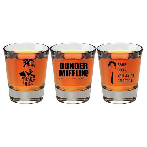the office collectible shot glasses