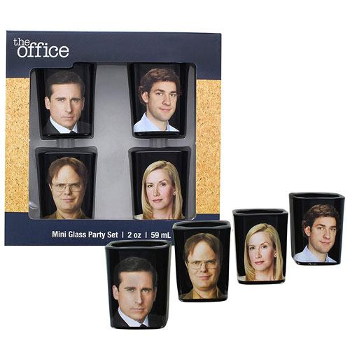 the office shot glasses gift set