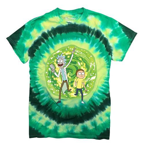 tie dye portal t-shirt