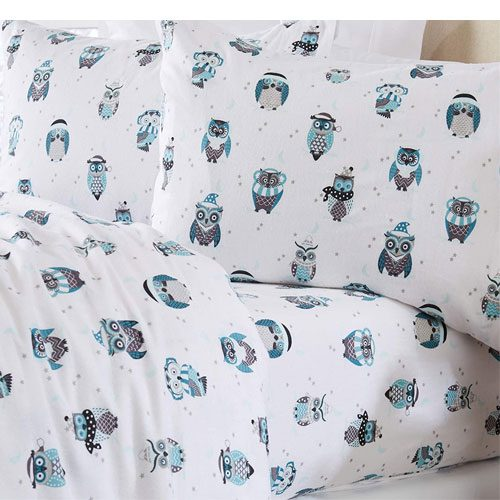 winter owl bed sheets