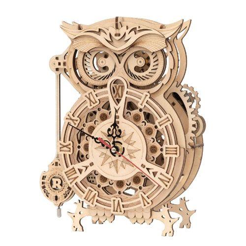 3d wooden owl clock puzzle