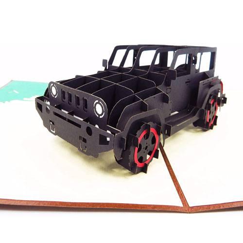 3d jeep birthday card